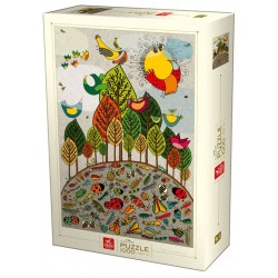 Puzzle 1000 pièces - Birds and Bugs