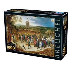 Puzzle 1000 pièces Breughel - The Marriage Procession