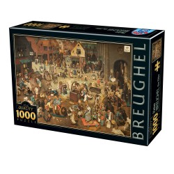 Puzzle 1000 pièces Breughel - The Fight Between Carnival and Lent