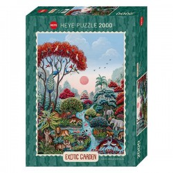 Puzzle 2000 pièces - Exotic Garden