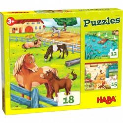 Puzzle 18 pièces - Animaux de la ferme