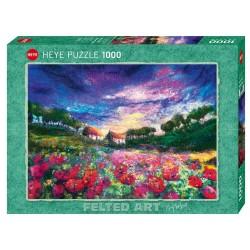 Puzzle 1000 pièces - Sundown Poppies