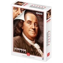 Puzzle 1000 pièces - Caricature Benjamin Franklin