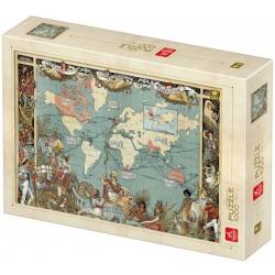 Puzzle 1000 pièces - Map Vintage