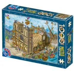 Puzzle 1000 pièces - Cartoon Notre-Dame