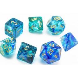 7 dés Nebula - Oceanic gold Luminary