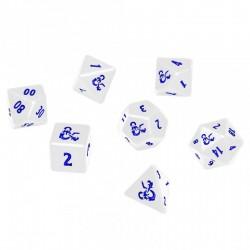 D&D 5 : Set de 7 Dés blancs - Heavy Metal Icewind Dale