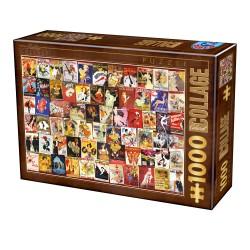 Puzzle 1000 pièces - Vintage Cabaret Posters