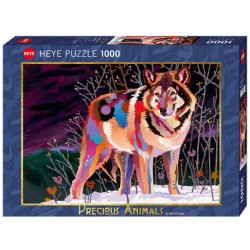 Puzzle 1000 pièces - Night Wolf