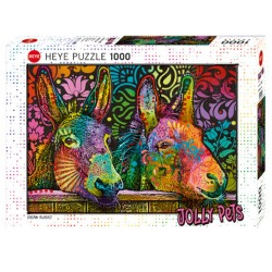 Puzzle 1000 pièces - Jolly Pets - Donkey Love