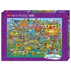 Puzzle 1000 pièces - Doodle Village