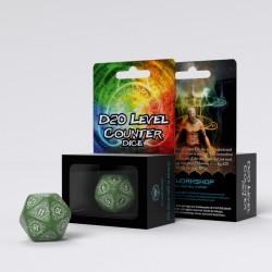 D20 green white level counter
