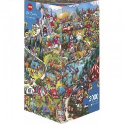 Puzzle 2000 pièces - Go Camping