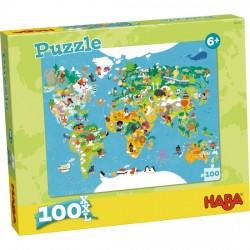 Puzzle 100 XXL - Carte du monde
