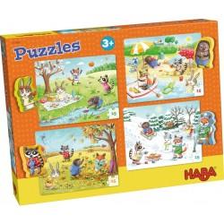 4 Puzzles 15 pièces - les saisons