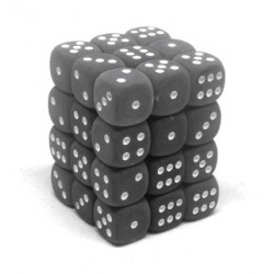 Pack de 36 dés D6 * givrés * FUME / FROSTED SMOKE un jeu Chessex
