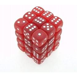 Pack de 36 dés D6 * givrés * ROUGE / FROSTED RED un jeu Chessex