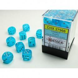 Boite de 36 dés D6 * Luminary * Sky un jeu Chessex
