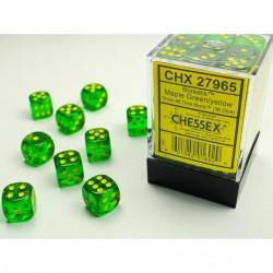 Boite de 36 dés D6 * Borealis * Maple Green un jeu Chessex