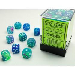 Boite de 36 dés D6 * Festive * Waterlily un jeu Chessex