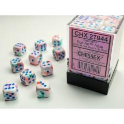 Boite de 36 dés D6 * Festive * Pop Art un jeu Chessex