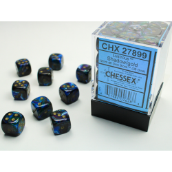 pack 36 dés 6 shadow chessex