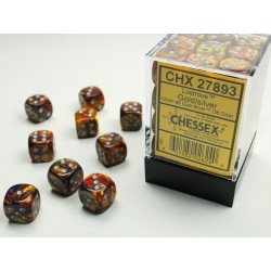 Pack 36 dés 6 or chessex