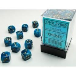 Pack 36 dés 6 sarcelle chessex