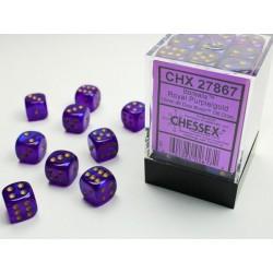 Pack 36 dés 6 Violet Royal chessex