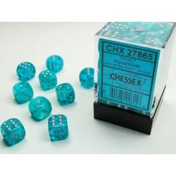 Pack 36 dés 6 aqua chessex