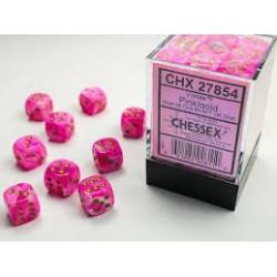 Pack de 36 dés D6 * vortex * ROSE un jeu Chessex