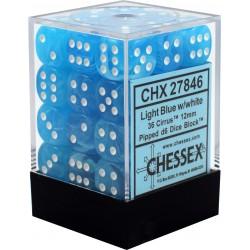 Pack de 36 dés 6 * cirrus * BLEU CLAIR un jeu Chessex