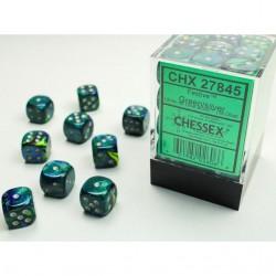 Pack 36 dés 6 vert chessex