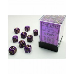Pack 36 dés 6 violet chessex