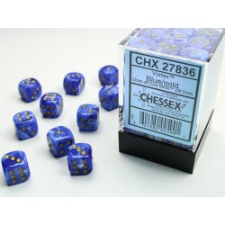 Pack 36 dés 6 bleu chessex