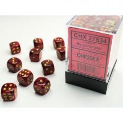 Pack 36 dés 6 bordeau chessex