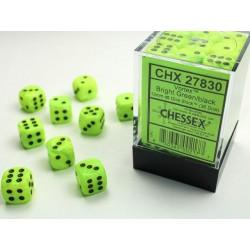 Pack de 36 dés D6 * vortex * VERT CLAIR un jeu Chessex
