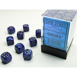 Pack 36 dés 6 bleu roi chessex