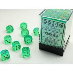 Pack 36 dés 6 vert clair chessex