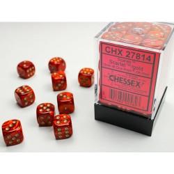 Pack 36 dés 6 Scarlet Chessex Jeu de rôle