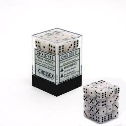 Pack de 36 dés 6 * nacre * BLANC un jeu Chessex