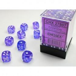Pack 36 dés 6 Violet Chessex Jeu de rôle