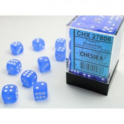 Pack 36 dés 6 bleu chessex jeu de rôle