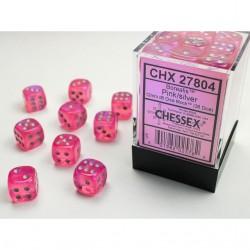 Pack 36 dés 6 Rose Chessex Jeu de Rôle