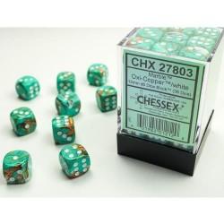 Boite de 36 dés D6 * Marble * Oxi Copper un jeu Chessex