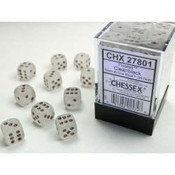 Pack 36 dés 6 clair chessex Jeu de rôle