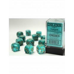 Boîte de 12 dés 6 * vortex * SARCELLE / TEAL un jeu Chessex