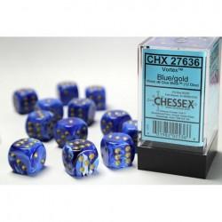 Pack 12 dés 6 Bleu Chessex Annecy