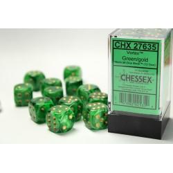 Pack 12 dés 6 Vert Chessex Annecy