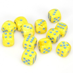 Boîte de 12 dés 6 * vortex * JAUNE un jeu Chessex
